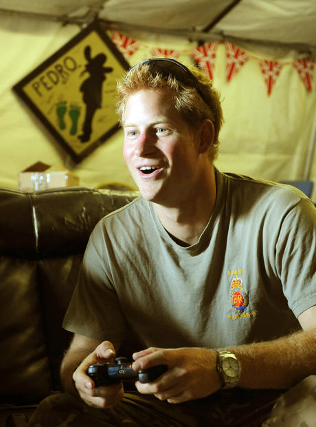 "Prince Harry is speaking out for the first time about those naked photos of him that caused a royal kerfuffle over the summer.  ""It was probably a classic example of me probably being too much army, and not enough prince. It's a simple case of that,"" the royal said during a BBC interview at his military base in Afghanistan.  ""Back home all my close friends rallied round me and were great.""  <br><br> <strong>Full story:</strong> <a href=""http://www.latimes.com/entertainment/gossip/la-et-mg-prince-harry-naked-photos-afghanistan-interview-20130122,0,4410607.story"">Prince Harry speaks out about Las Vegas nude photos, privacy</a> 