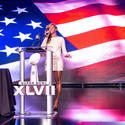 Beyonce belts out national anthem at Super Bowl news conference