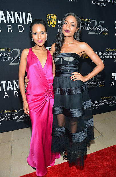 """Scandal"" actress Kerry Washington and ""Skyfall"" actress Naomie Harris"