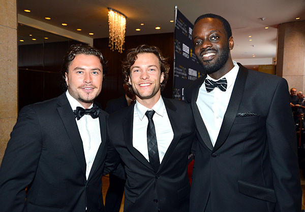 """Copper"" actors Kevin Ryan, Kyle Schmid and Ato Essandoh"