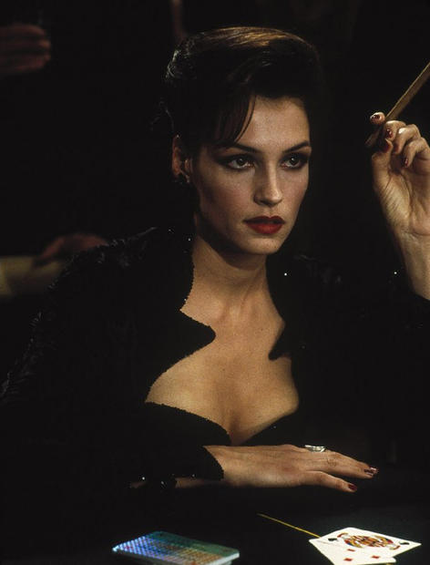 "<b>Appearances:</b> Xenia Onatopp was played by Famke Janssen in 1995's ""Goldeneye,"" Pierce Brosnan's 007 debut. <br><br> <b>Honcho or henchman?</b> Henchwoman, working for Alec Trevelyan, leader of the Janus crime syndicate and a former MI6 agent and friend to Bond. Onatopp is a former KGB fighter pilot and assassin -- skills that come in handy in her work for Janus. <br><br> <b>Dastardly distinction:</b> Most memorable is her predilection for sadomasochistic pleasure in assassinating her enemies. She crushes her enemies with her steely thighs during sex and takes pleasure in their physical attacks on her."