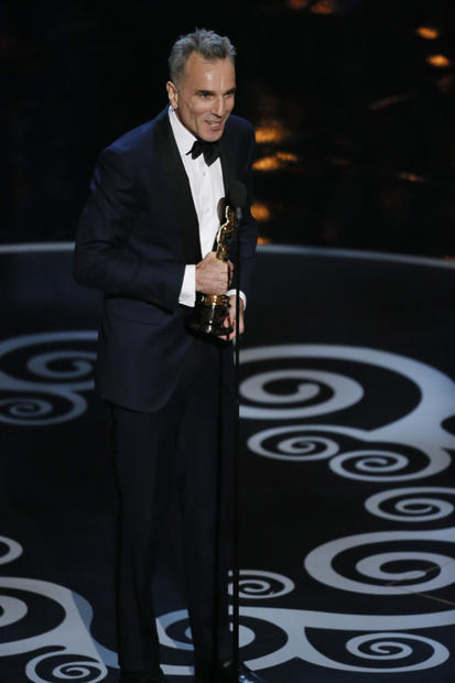 "Oscar-winner Daniel Day-Lewis, when asked whether he gets assistance in composing his acceptance speeches, took full ownership of his words: ""If you can't find your own words to say in situation like this, I think it would be a little sad."""