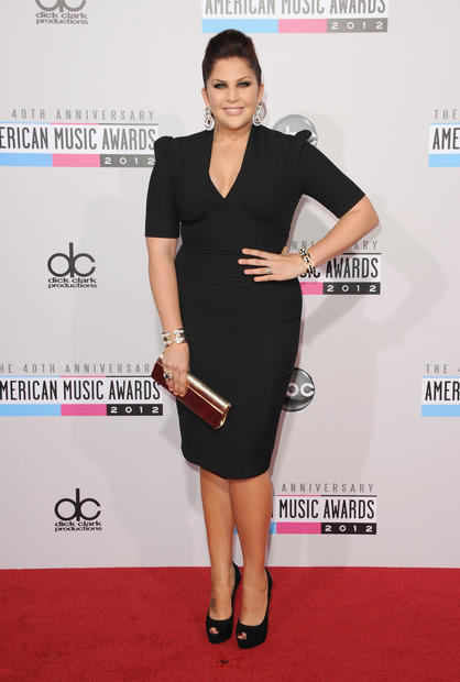 Singer Hillary Scott of Lady Antebellum attends the 40th American Music Awards. Lady Antebellum is nominated of Favorite Band, Duo or Group in Country.