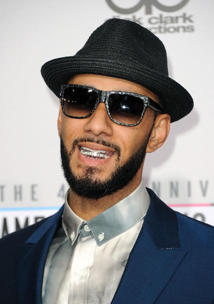 Rapper and producer Swizz Beatz at the 40th American Music Awards.