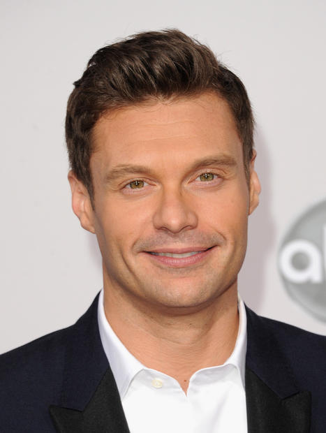 TV host Ryan Seacrest at the 40th American Music Awards.