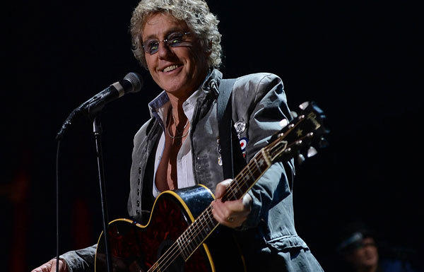 Roger Daltrey of The Who performs.