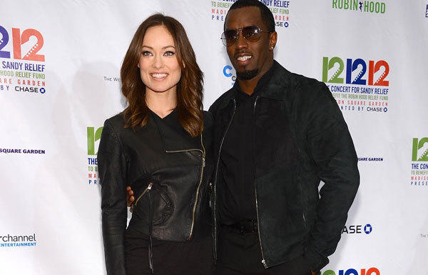 Olivia Wilde and Sean John Combs attend the concert in New York.
