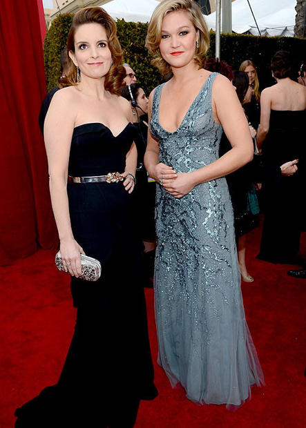 """30 Rock's"" Tina Fey, left, and ""Silver Linings Playbook"" actress Julia Stiles."