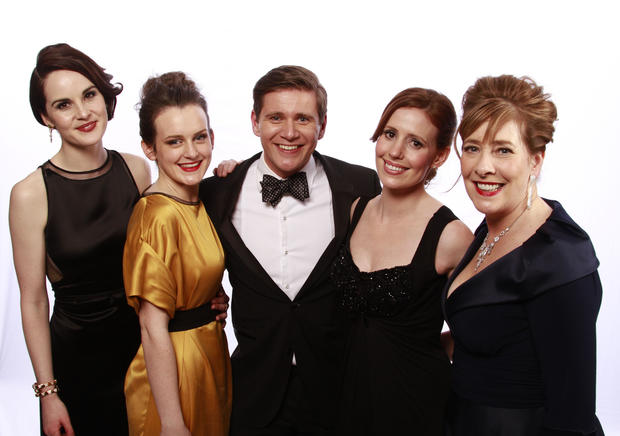 "Cast members of ""Downton Abbey,"" which won the SAG award for ensemble in a drama series."