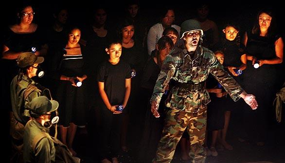 "Michael Pou portrays an American soldier in ""De la Locura a la Esperanza: From Madness to Hope."""
