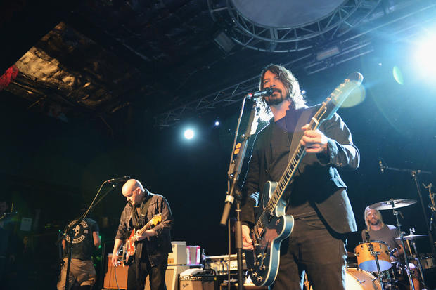 "The Foo Fighters and musician Alain Johannes perform onstage at the ""Sound City Players"" debut at Sundance Film Festival at Park City Live! on January 18, 2013 in Park City, Utah."