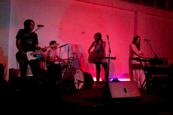 The band Family of the Year played at a beauty school-turned venue called Sunset Stretch as part of a series of last-minute shows that cropped up in the wake of Sunset Junction's cancellation.