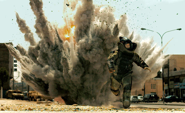 "Jeremy Renner in a scene from the 2008 movie ""The Hurt Locker."""