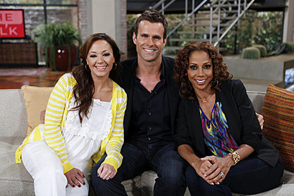 <b>Abruptly departed:</b> Leah Remini and Holly Robinson Peete (pictured with Cameron Mathison)<br>