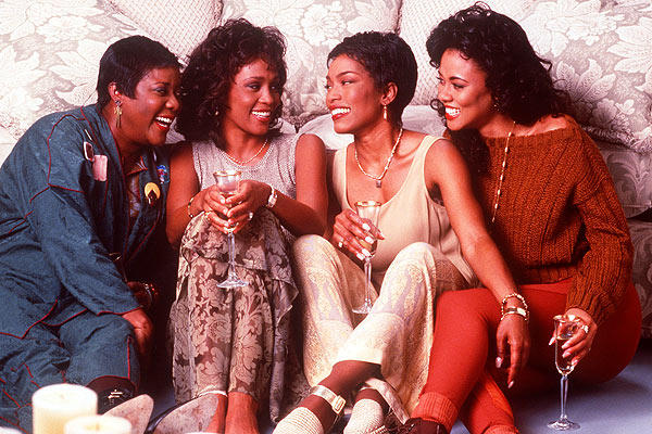 Whitney Houston, second from left, plays Savannah Jackson, a TV producer who's in love with a married man.