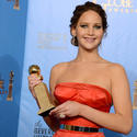 Jennifer Lawrence, winner for actress in comedy or musical ('Silver Linings Playbook')