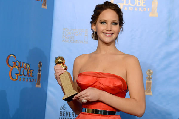"""That gives me a lot of anxiety,"" Jennifer Lawrence said when someone asked whether she was looking forward to the Oscars, stammered a minute, then said, ""Me and the Oscars together give me a lot of anxiety."""