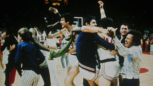 "The matchup between the United States and the Soviet Union at the 1972 Munich Games remains one of the most controversial moments in Olympic history. The U.S. was trailing in the final moments of the game but sank two free throws to pull ahead. What happened next was a nail-biting blur of timeouts, reset clocks and questionable refereeing. <a href=""http://www.guardian.co.uk/sport/blog/2011/nov/16/usa-ussr-olympic-basketball-1972"" target=""_blank"">(The Guardian offers up this thrilling account.)</a> When it was over, the U.S. players were sure they'd won. The refs said otherwise. The Americans appealed the loss, but of the five judges on the jury, three were from Communist countries. The appeal was rejected 3-2."