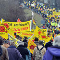 Anti-nuclear protesters in Neckarwestheim, Germany