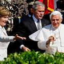 Pope White House President Bush Laura Bush