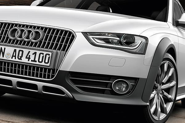 "The Audi Allroad's sleek headlamps with those daytime-running LED lights you see from the other side of the freeway have a more contemporary presence with a cleaner ""light tube"" effect."
