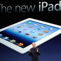 Apple CEO Tim Cook and the new iPad