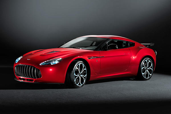 The Aston Martin V-12 Zagato gets the same 510 horsepower and 420 pound-feet of torque from a 6.0-liter, quadruple-overhead camshaft V-12 engine that's in the V-12 Vantage.