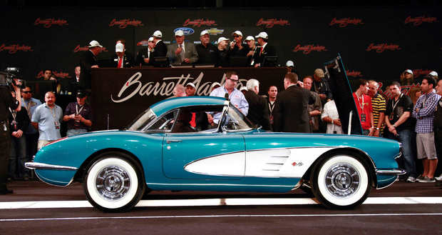 A 1958 Chevrolet Corvette owned by General Motors CEO Dan Akerson was sold for $270,000 at a Barrett-Jackson auction in Scottsdale, Ariz. Akerson will donate the proceeds to Habitat for Humanity in Detroit.