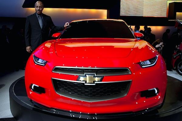Though Code 130R and Tru 140S sound a bit like the scientific names given to distant planets, Chevrolet used the Detroit Auto Show to unveil this pair of eco-friendly, youth-oriented concepts that the company says it designed with input from the under-30 crowd. The Code 130R, seen here with GM executive Ed Welburn, is a rear-wheel drive, four-seat coupe. Chevrolet says the 130R is powered by 1.4-liter, turbocharged four-cylinder engine. It also uses GM's eAssist system (seen in production models such as Buick's LaCrosse and the 2013 Chevrolet Malibu), which features engine shutoff at stoplights and regenerative braking for greater efficiency.