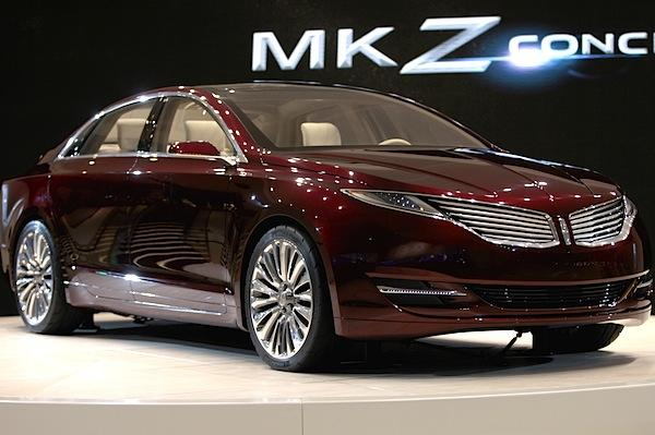 "Ford Motor Co. unveiled an early version of the new Lincoln MKZ that signals the styling direction the brand is taking as it struggles to gain traction in the U.S. luxury market. Ford Chief Executive Alan Mulally said the car was ""very close to what you will see in the showroom."" Mulally said the MKZ's segment, the mid-sized sedan, makes up the largest volume segment of the luxury market and represents Lincoln's best chance to gain ground against the other luxury nameplates. <a href=""http://www.latimes.com/business/autos/la-fi-autos-detroit-ford-lincoln-mkz-20120110,0,449553.story"" style=""color: #2262cc;"">Full story</a>"