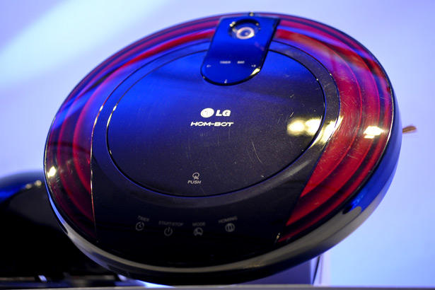 The LG Electronics Inc. Hom-Bot vacuums floors robotically and looks cool doing it.