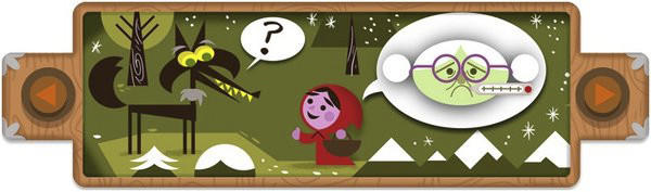 "The stories concocted by the Brothers Grimm have woven themselves inextricably into the fabric of Western culture. When deciding which of their many well-known tales to feature on their home page, Google's doodlers chose <a href=""http://www.google.com/doodles/200th-anniversary-of-grimms-fairy-tales"" target=""_blank"">Little Red Riding Hood</a>.<br><b>More: </b> <a href=""http://www.latimes.com/business/technology/la-fi-tn-brothers-grimm-google-doodle-20121220,0,6815567.story"" target=""_blank"">Their stories tended toward the sinister...</a>"