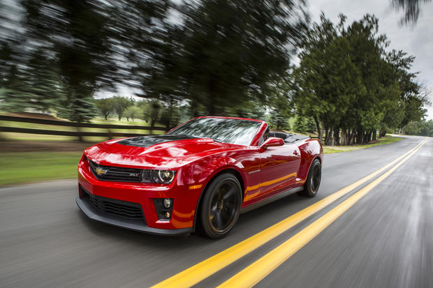 The 2013 Chevy Camaro ZL1 convertible has a 580-horsepower supercharged V-8 and will do zero-60 in 4.4 seconds.