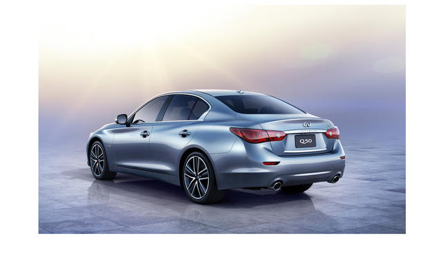 Infiniti's all-new Q50 sedan debuted at the 2013 Detroit Auto Show. A replacement for the G37 sedan, this version will come in either rear-wheel-drive or all-wheel-drive models and compete with cars such as the BMW 3-Series, Mercedes-Benz C-Class and Audi A4.