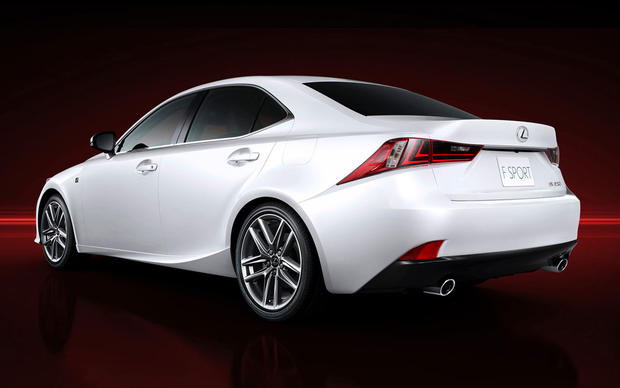 Lexus officially unveiled photos of the 2014 IS sedan. Full details on the car will be announced at the 2013 Detroit Auto Show on Tuesday. The model shown here has the more aggressive F-Sport package.