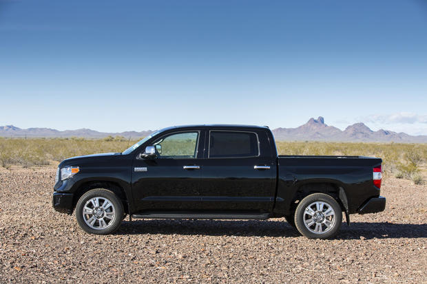 The Platinum edition of the 2014 Toyota Tundra full-size pickup.
