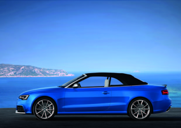 The RS5 Cabriolet has a naturally-aspirated V-8 making 450 horsepower and 317 pound-feet of torque.