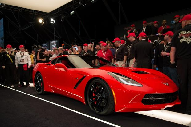 The world's first 2014 Chevy Corvette sold for $1.05 million at a Barrett-Jackson auction. Proceeds from the sale will benefit the College for Creative Studies in Detroit.