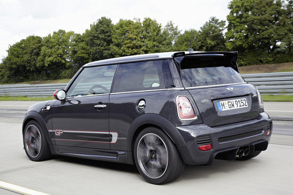 "Hagerty says of this Mini John Cooper Works GP: ""Mini enthusiasts will need to secure theirs quickly as merely 500 units will be sold in the United States."" This Mini starts at $39,950."