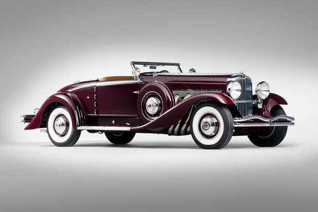 This 1935 Duesenberg Model SJ Walker-LaGrande Convertible Coupe has a pre-sale estimate of $3.5 million to  $5 million.