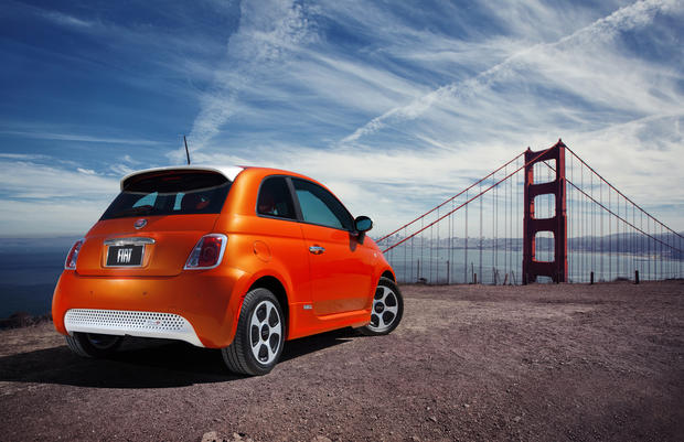 The all-electric Fiat 500e.