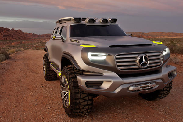 In case that''s not futuristic enough for you, Mercedes says this concept would be powered by hydrogen fuel cells that get some of their energy from recycled water captured in the tanks mounted to the roof.