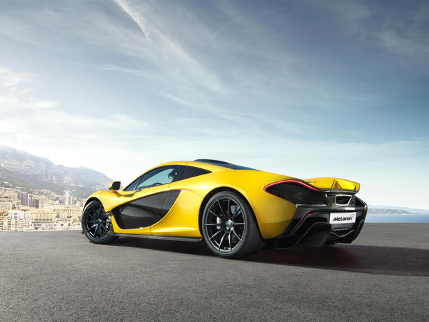 The McLaren P1 plug-in hybrid supercar has 903 horsepower from a twin-turbocharged V-8 and an electric motor. Only 375 copies will be made and each will cost $1.15 million.
