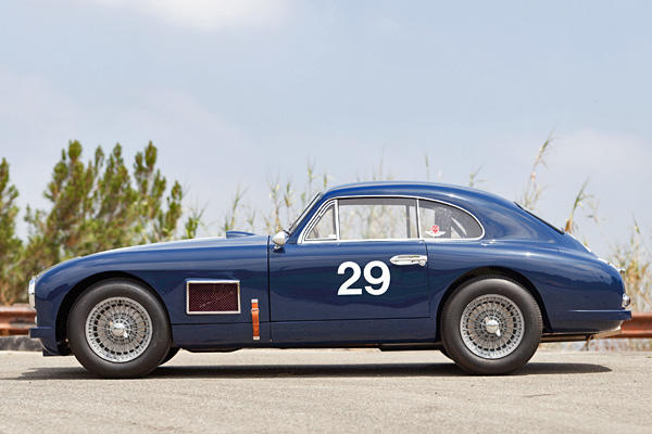 This 1950 Aston Martin DB2 Coupe has 200 horsepower and an estimated 150-180 pound-feet of torque coming from a 2.9-liter, inline six-cylinder motor routing power to the rear wheels through a four-speed manual transmission.