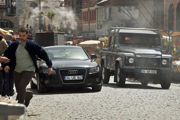 "Another scene from the opening chase sequence in ""Skyfall."""