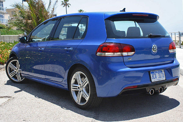 The Golf R gets 256 horsepower and 243 pound-feet of torque from a 2.0-liter, turbocharged inline four-cylinder engine that routs power to all four wheels via a six-speed manual transmission.