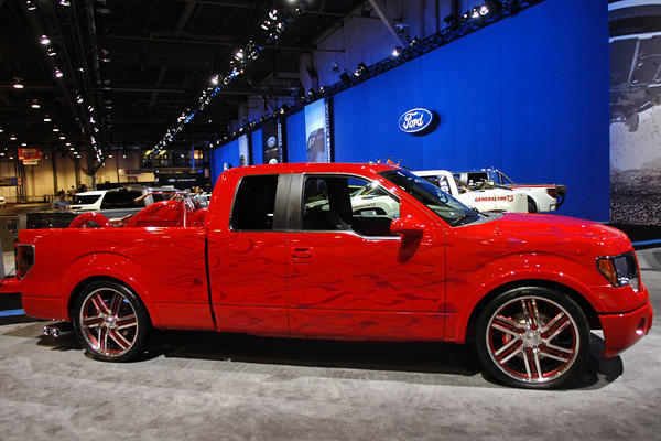 The Ford F-Series, like the one seen here, won Hottest Truck at the 2012 SEMA Show.