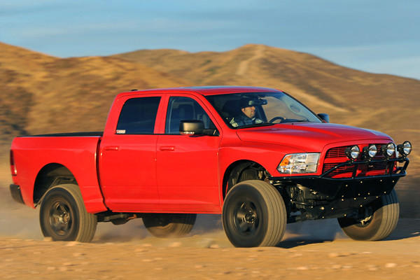 The first stage is called the Baja Series conversion. It includes a 1.75-inch leveling kit that brings the nose of the truck up, 20-inch wheels with BFG tires, a rear-tire carrier, KTS front and rear fenders and front bumper with light bar, a Flowmaster cat-back exhaust and leather seats. The price for this gear is a hefty $13,595.