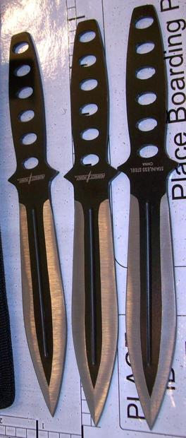 Several throwing knives were intercepted by TSA at Salt Lake International Airport in May.