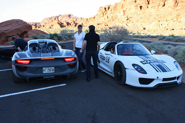 Porsche engineers took a pair of the 918 Spyder prototypes into the Nevada desert recently for hot-weather testing.